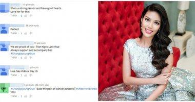 Fan hết lời khen ngợi Lan Khuê với dự án từ thiện tại Miss World 2015