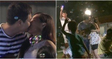 MC Phan Anh hôn vợ say đắm trên truyền hình