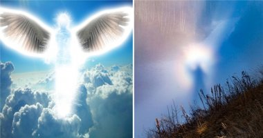 """Sửng sốt với hình ảnh giống """"thiên thần"""" xuất hiện trên bầu trời"""