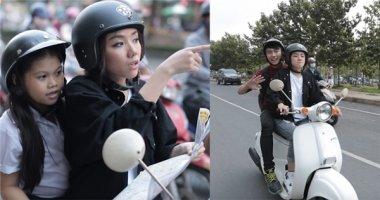 """Hot girl Phương Ly làm """"xe ôm miễn phí"""" dạo một vòng Sài Gòn"""