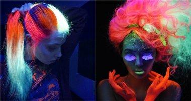 """Trở thành """"cái rốn vũ trụ"""" với mái tóc nhuộm dạ quang"""