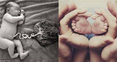 """Xôn xao mạng xã hội bức hình em bé với dây rốn chữ """"Love"""""""