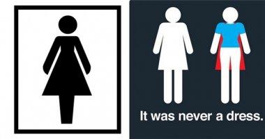 Biểu tượng của nhà vệ sinh nữ thực tế không phải là chiếc váy?