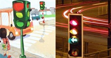 Trước đây, cột đèn giao thông có màu xanh-vàng-đỏ như bây giờ?