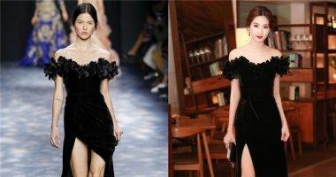 Hoa hậu Đặng Thu Thảo mặc váy nhái của Marchesa?