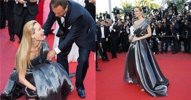 Sao nữ bất ngờ vồ ếch trên thảm đỏ Cannes 2016