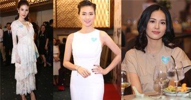 Diễm My, Vân Ngô nền nã với đầm trắng, Hạ Vi lẻ loi đi dự tiệc