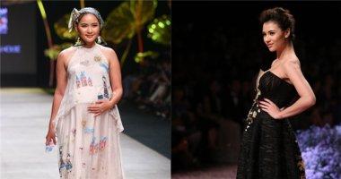 Bà bầu đi catwalk: mốt mới của làng thời trang Việt?