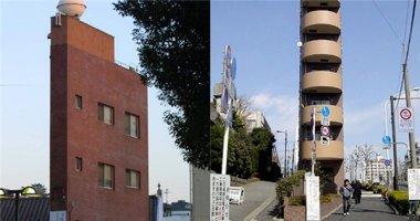"""Choáng váng trước những toà nhà """"mỏng đến không thể mỏng hơn"""" ở Nhật"""