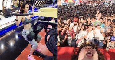 """Midu khoe """"vòng eo 56"""", Tiên Tiên suýt """"gãy cổ"""" vì selfie cùng fan"""