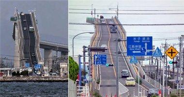 Choáng với cây cầu giống hệt tàu lượn siêu tốc ở Nhật Bản