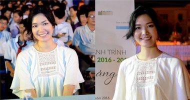 Hoa hậu Thùy Dung giản dị đi từ thiện