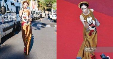 """Dàn sao """"dọn chỗ"""" cho Angela Phương Trinh tạo dáng trên thảm đỏ Cannes"""