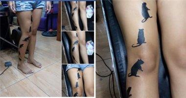 Cô gái xăm đàn chuột trên chân gây sốt cộng đồng mạng