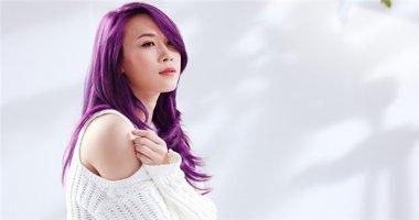 """Mỹ Tâm khiến fan """"phát cuồng"""" với mái tóc """"tím thuỷ chung"""""""