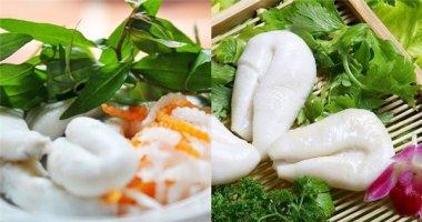 Trứng mực ăn kèm rau răm ngon lạ ở Phan Thiết