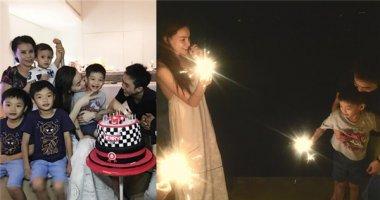 Hậu chia tay, Hà Hồ vẫn hạnh phúc bên Cường Đô La mừng sinh nhật Subeo