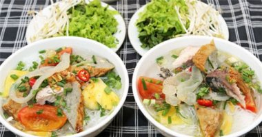 Đậm đà bún lá cá dầm Nha Trang