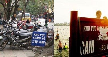 """Những biển báo """"có cũng như không"""" trên đường phố Việt"""