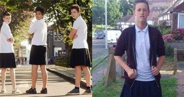 Té ngửa với lí do các nam sinh này dám... mặc váy đến trường