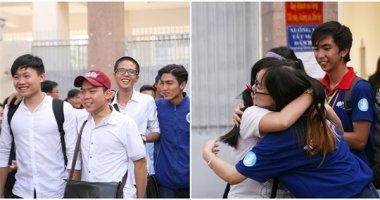Sĩ tử phấn khởi sau ngày thi cuối cùng của kì thi THPT Quốc Gia 2016