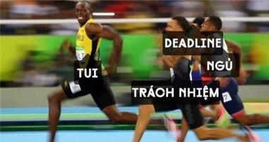 """""""Chết cười"""" ảnh chế Usain Bolt phởn phơ giành huy chương vàng Olympic"""