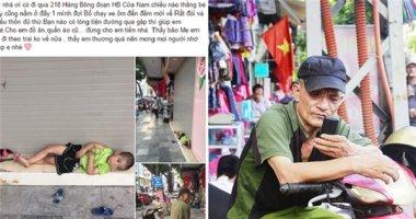 Sự thật về câu chuyện bé trai 4 tuổi đói lả nằm trên phố cổ Hà Nội
