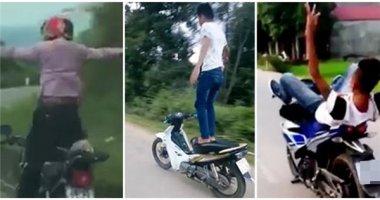 Hình phạt nào cho thanh niên buông lái, đứng trên yên phóng như bay?