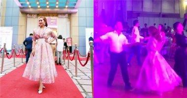 Lộ clip Khánh Thi khiêu vũ ăn ý cùng Chí Anh trong tiệc cưới