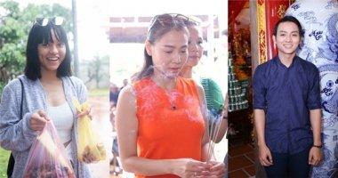 Mặc mưa bão, dàn sao Việt vẫn nườm nượp đến đền thờ Tổ của Hoài Linh