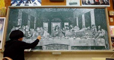 Ngỡ ngàng trước kiệt tác của Leonardo da Vinci vẽ bằng phấn trắng