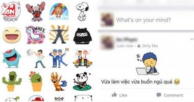 """Mẹo đăng status Facebook có thêm hình động """"nhí nhố"""""""