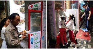 """Chiếc tủ lạnh đầy ắp thức ăn miễn phí - """"vị cứu tinh"""" cho người nghèo"""