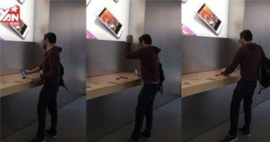 Đập nát iPhone, Macbook trong cửa hàng vì quá giận!