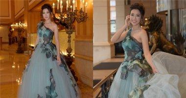 Hoa hậu Mỹ Linh xinh như công chúa tại Đài Loan