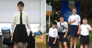 Sốc với nhóm nam sinh mặc váy nhảy giữa sân trường