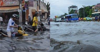 9 tuyến đường nội ô Sài Gòn tiếp tục ngập do ảnh hưởng của triều cường