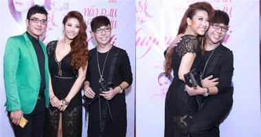 """Long Nhật sánh đôi cùng """"bạn trai"""" Vương Bảo Tuấn đến chúc mừng em gái"""