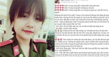 Cảm động tấm lòng hot girl 9x kêu gọi ủng hộ đồng bào miền Trung