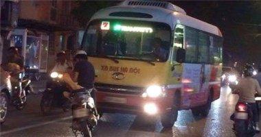 Xôn xao thanh niên dựng xe giữa đường chặn đầu xe buýt lấn tuyến