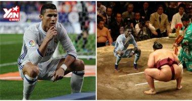"""Ronaldo lại bị chế ảnh sau khi ăn mừng kiểu """"ngồi bồn cầu"""""""