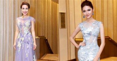 Á hậu Thùy Dung khoe dáng nuột nà với váy xuyên thấu cùng Uyên Linh