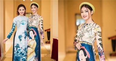 Á hậu Thanh Tú duyên dáng với áo dài cách tân