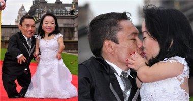 """Xúc động với cặp đôi """"tí hon"""" được ghi danh tại Kỷ lục Guinness"""