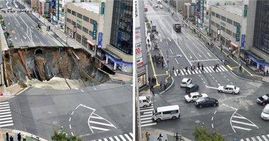 Nhật Bản gây choáng khi khắc phục hố tử thần rộng 27m trong 2 ngày