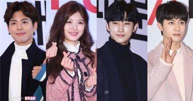 """Dàn """"trai đẹp"""" Mây họa ánh trăng nô nức đến ủng hộ Kim Yoo Jung"""