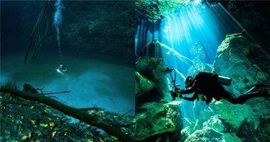 """Kì lạ dòng sông xanh thẳm có """"hộ khẩu"""" dưới đáy đại dương"""