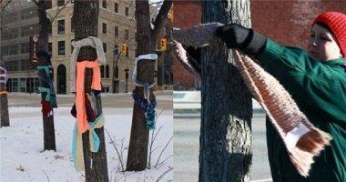 """Mỹ: """"Mùa đông không lạnh"""" với những chiếc khăn ấm áp tình người"""