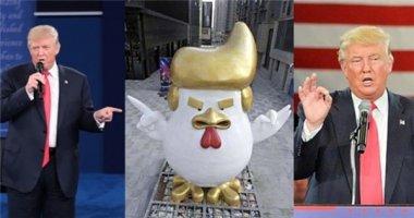 Xuất hiện tượng gà trống giống Donald Trump giữa trung tâm thương mại