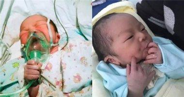 Cậu bé sơ sinh tự cứu lấy mình trong khoảnh khắc nguy kịch gây sốt